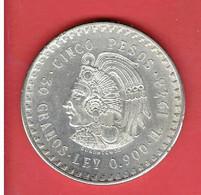 MEXIQUE 5 PESOS EN ARGENT 1948 ESTADOS UNIDOS MEXICANOS CINCO PESOS  Empereur Aztec Cuauhtémoc MEXICO - Mexico