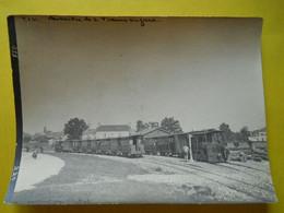 Photo T I V , En Gare De Gosné  , Collection Guittet, Croisement De Trains ,tramways - Eisenbahnen