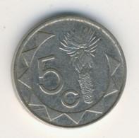NAMIBIA 2002: 5 Cents, KM 1 - Namibia