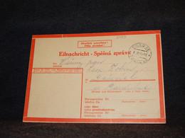 Germany 1944 Prag Eilnachricht Card__(2489) - Storia Postale