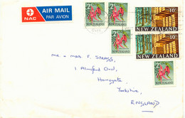 NEW ZEALAND 1976 2C Flowers (Clianthus Puniceus) 4x + Pinus Radiata 10C 2 X - Covers & Documents
