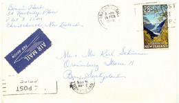 NEW ZEALAND 1969 28 C Fox Glacier Westland National Park Slogan SWITZERLAND - Covers & Documents