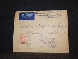 Algeria 1940's Air Mail Cover To Denmark__(125) - Poste Aérienne