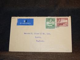 Antigua 1940's Air Mail Cover To UK__(3189) - 1858-1960 Kronenkolonie