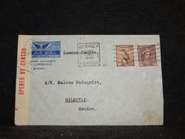 Australia 1944 Sydney Censored Cover To Sweden__(23) - Briefe U. Dokumente