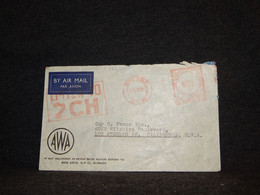 Australia 1948 Sydney Meter Mark Cover To USA__(181) - Briefe U. Dokumente