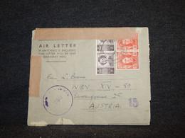 Australia 1950 Air Letter To Austria__(50) - Briefe U. Dokumente