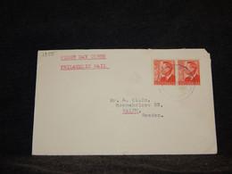 Australia 1950 Hobart Cover To Sweden__(1355) - Briefe U. Dokumente