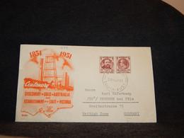 Australia 1951 Discovery Gold Picture Cover__(699) - Briefe U. Dokumente