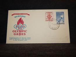 Australia 1956 Melbourne Olympic Stamps Cover__(605) - Briefe U. Dokumente