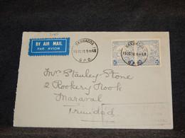 Barbados 1938 Air Mail Cover To Trinidad__(3165) - Barbados (...-1966)