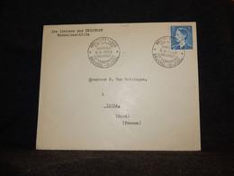 Belgium 1953 Bruxelles-Lille Helipost Cover__(405) - Cartas
