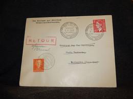 Belgium 1953 Bruxelles-Rotterdam Helipost Cover__(407) - Cartas