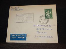 Belgium 1956 Bruxelles Bonn Sabena Cover__(2012) - Cartas