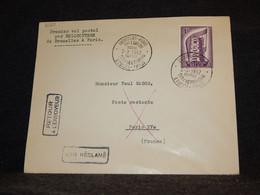 Belgium 1957 Bruxelles Paris Cover__(2120) - Cartas