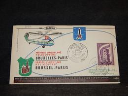 Belgium 1957 Bruxelles Paris Helicoptere Cover__(2084) - Cartas