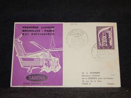 Belgium 1957 Bruxelles Paris Sabena Cover__(2083) - Cartas