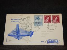Belgium 1957 Sabena Bruxelles-Montreal Cover__(1775) - Cartas
