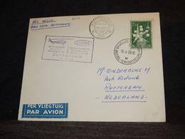 Belgium 1958 Bruxelles Rotterdam Helicoptere Cover__(2018) - Cartas