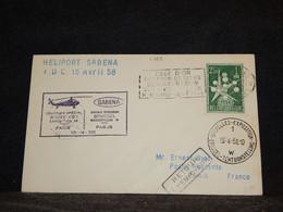 Belgium 1958 Sabena Bruxelles-Paris Cover__(1768) - Cartas