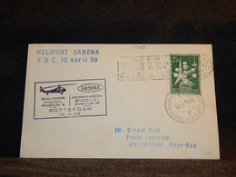 Belgium 1958 Sabena Bruxelles-Rotterdam Cover__(1765) - Cartas