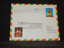 Bolivia 1979 Air Mail Cover To Germany__(1272) - Bolivia