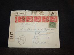 Brazil 1916 Registered Censored Cover To Denmark__(80) - Cartas