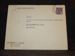 Brazil 1930's Sao Paulo Herbet Herz Business Cover__(3146) - Briefe U. Dokumente