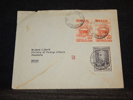 Brazil 1950's Cover To Sweden__(1132) - Cartas