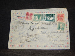 Brazil 1950's Registered Cover To Finland__(1211) - Cartas