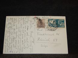 Brazil 1953 Postcard To Switzerland__(2124) - Cartas