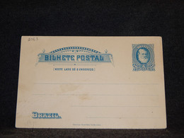 Brazil 40r Blue Unused Stationery Card__(2063) - Aéreo