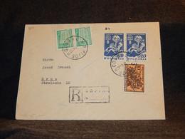 Bulgaria 1948 Sofia Registered Cover To Brno__(3111) - Briefe U. Dokumente