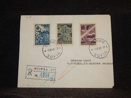 Bulgaria 1948 Sofia Registered Cover To Brno__(3115) - Briefe U. Dokumente