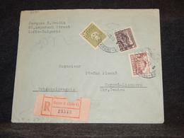Bulgaria 1949 Registered Cover To Czechoslovakia__(3080) - Briefe U. Dokumente