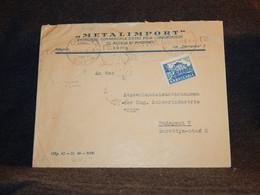 Bulgaria 1949 Sofia Metalimport Business Cover__(3125) - Briefe U. Dokumente