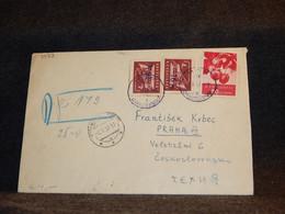 Bulgaria 1957 Cover To Czechoslovakia__(3073) - Briefe U. Dokumente