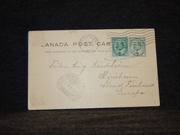 Canada 1910 Toronto Stationery Card To Germany__(545) - 1903-1954 Reyes
