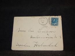 Canada 1920's Cover To Sweden__(3751) - Cartas