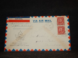 Canada 1932 Montreal Lake Lac La Ronge Air Mail Cover__(2112) - Aéreo