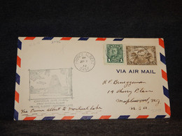 Canada 1932 Prince Albert Montreal Air Mail Cover__(2086) - Aéreo