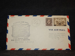 Canada 1933 Big River Beauval Air Mail Cover__(2099) - Aéreo