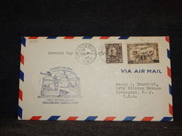Canada 1933 Cameron Bay Camsell River Air Mail Cover__(2096) - Aéreo