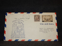 Canada 1933 Rae Camsell River Air Mail Cover__(2090) - Aéreo