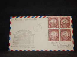 Canada 1935 Kenora Whitefish Bay Air Mail Cover__(2100) - Aéreo