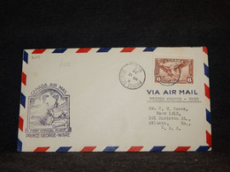 Canada 1938 Prince George Ware Air Mail Cover__(2101) - Aéreo