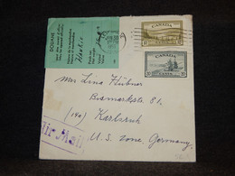 Canada 1950 Lethbridge Air Mail Cover To Germany US Zone__(2783) - Aéreo