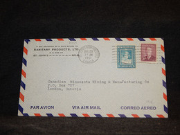 Canada 1951 St.John Air Mail Cover To UK__(2779) - Aéreo