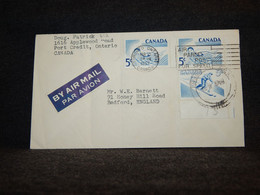 Canada 1957 Toronto Air Mail Cover To UK__(612) - Aéreo
