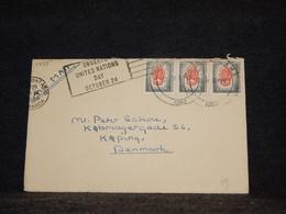 Canada 1960 Air Mail Cover To Denmark__(1455) - Aéreo